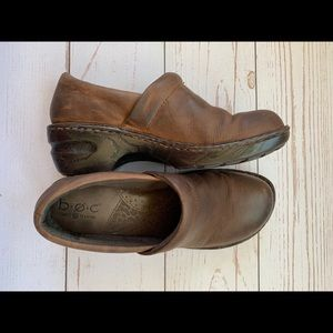 Born Concepts - Norda Chocolate Leather Clogs